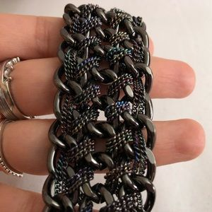 Guess Jewelry - 💍3/$20💍Guess Gunmetal Braided Chain Bracelet